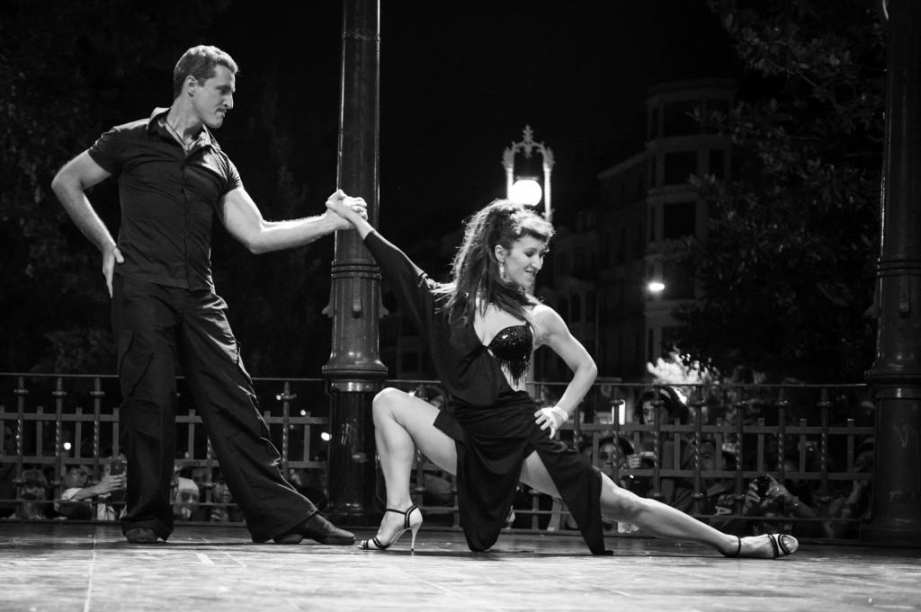 David Govillard y Elena Alzuri en una de sus actuaciones