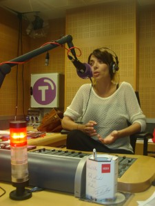 Gloria Santoro en un momento de la entrevista (Foto: Mª José Acevedo)