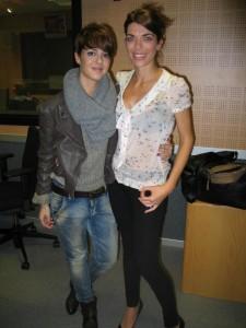 Gloria Santoro (dcha)y la cantante Vega en RCM