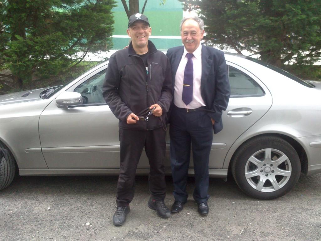 Con José Ramon Arriarán de la empresa Prevencilan (Foto: David Segura)