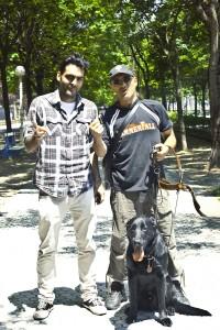 Con Paul, dtor ArteUPArte y Roger