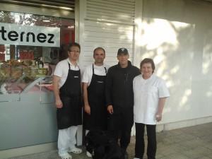 Ibón y sus amigos de la carnicería Ternez