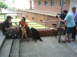 Begoña López entrevista a Ibón Casas para TVE