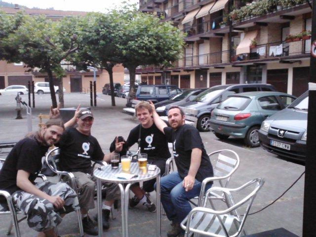 Rafael Bajo, Ibón Casas, Paul Merino y Joxeba Agirresarobe