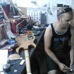 Sergio Calleja en su taller (Joxeba Aguirresarobe)