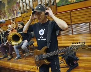 Grabación con la O.S.E. (Foto: Paula Arbide)