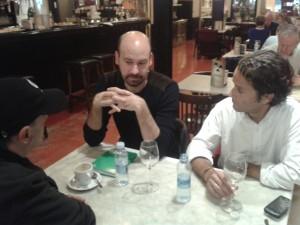 Con Jorge Gil Munárriz y Pablo Pérez (Foto: Ana Muñoz)