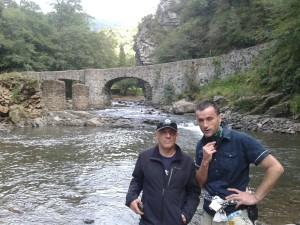 Con Imanol Etxeberría en el Valle de Leizarán (Foto: Ana Muñoz)
