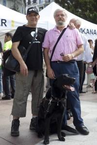Ibón y Roger con Manuel Solórzano (Foto: Paula Arbide)
