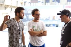 Dos blogueros entrevistan a Ibón (Foto: Paula Arbide)