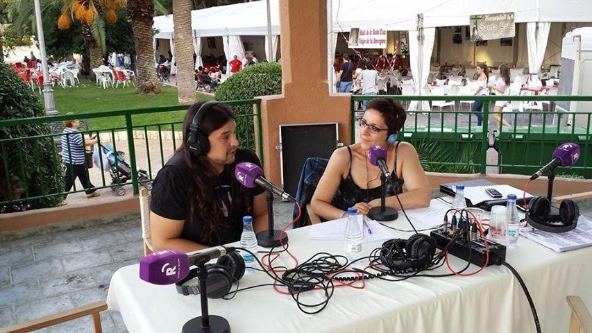 Mª José Acevedo entrevista a Rafa Blas (Foto: David López Rey)