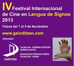 Cartel Festival Cine Lengua de Signos 2