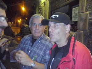 "Con Enrique Ochoa ""Quique""(Golden Apple Quartet) Foto: Ana Muñoz"