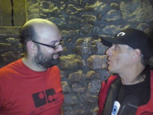 Con Unai Moraza. Presentacion Les Fous (7-11-2013) Ana Muñoz