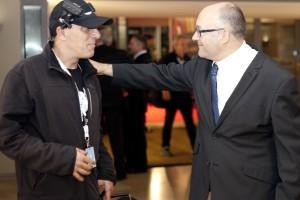 En la inauguración de Zinemaldi con José Luis Rebordinos. Foto: Paula Arbide