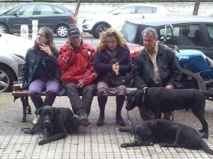Con Silvia, Carmen y Txosko  Foto: Ana Muñoz