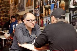Reunión con José Luis Rebordinos Foto: Paula Arbide
