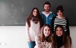 Marina y compañeros de clase (Unai De Miguel, María Martinez, Saioa Prieto, Silvia Ramos y Marina Sáez)