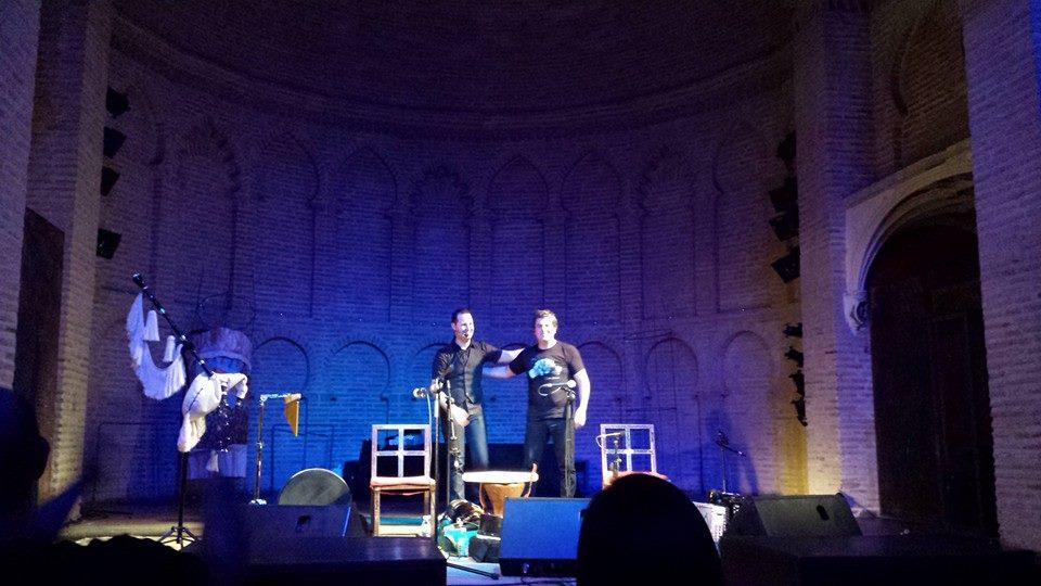 Kepa Junkera y Fernando Mosquera juntos en un escenario. Foto: Mª José Acevedo