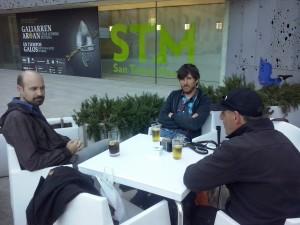 Con Jorge Gil Munarriz y Mikel Yarza Foto: Ana Muñoz