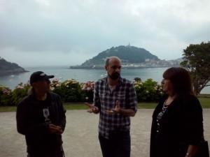 Jorge Gil Munárriz explicando el proyecto del teaser Foto: Ana Muñoz
