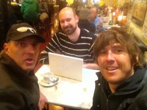 Con Jorge Gil Munarriz y Mikel Yarza
