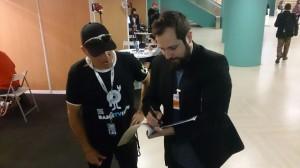 Carlos Vermut le da su apoyo a Ibón Casas Foto: Pancho Sánchez