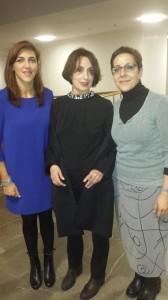 Luz Casal con Yolanda Monje y Mª José Acevedo