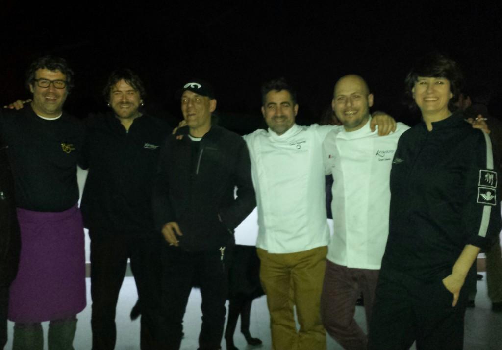 Bruno Oteiza, Xabi Díez, Ibón Casas, Gorka Txapartegi, Dani López y Aizpea Oihaneder