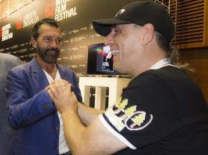 Ibón con Antonio Banderas