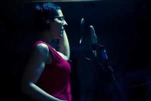 M.J.Acevedo grabando sonido de su versión